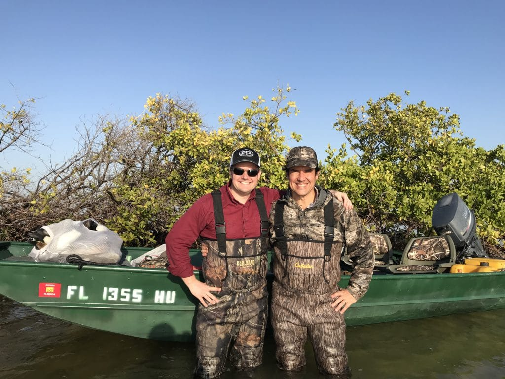 ernane and his attorney on a duck hunting trip